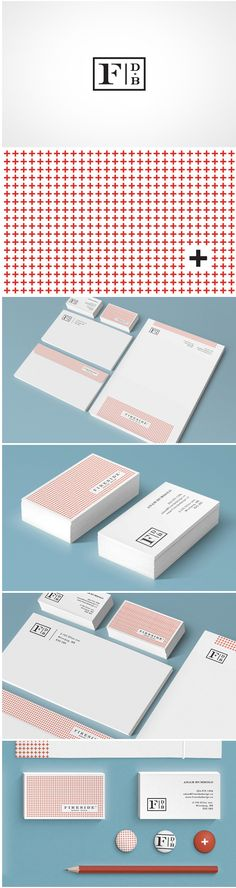 Foundry Co. / branding / logo / identity / packaging / stationery / letterhead / business card / pattern / box / red