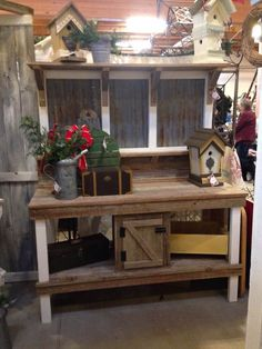 One of my potting benches at the Great Junk Hunt Christmas Vintage Market in Puyallup