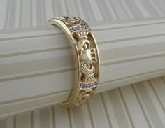 Claddagh Wedding ring with Diamonds