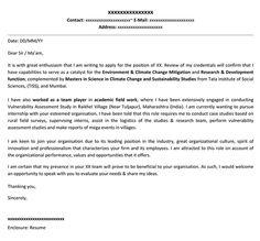 internship cover letter - Cover Letter Template For Internship