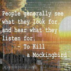 """""""La gente generalmente ve lo que quiere ver y escucha lo que quiere escuchar"""""""