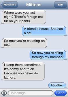 EL OH EL. @Hayley Volkmer  @Samantha 'Walsh' Davis  text from mittens.