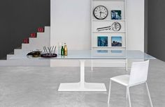 Glass dining table - palace extendable - by sovet