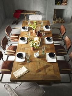 Dining Table-Bleached Pine - Autumn-Elle Design