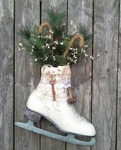 old skate as decoration