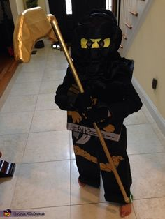 cool lord garmadon lego ninjago halloween costume for a boy kost m. Black Bedroom Furniture Sets. Home Design Ideas