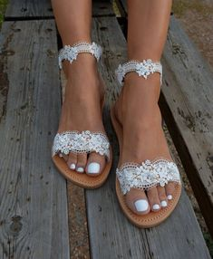 White lace sandal Bridal sandals Wedding shoes Pearl sandals Wedding sandals Romantic sandals White lace shoe White sandals Cherish - Sandals Shoes - Ideas of Sandals Shoes - White lace sandal Bridal sandals Wedding shoes Pearl Pearl Sandals, Bridal Sandals, White Sandals, Greek Sandals, Bridal Shoes, Leather Sandals, Sandals Wedding, Shoes Sandals, Heels
