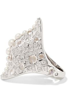 Venyx - 18-karat White Gold Multi-stone Ring - 6