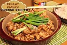 Mix Up Mealtime with Creamy Cashew Chicken Stir-fry (made with Jif Cashew Butter)! #spon #mixupmealtime @Jif® Peanut Butter