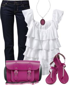"""Fuchsia Pink"" by wishlist123 on Polyvore"