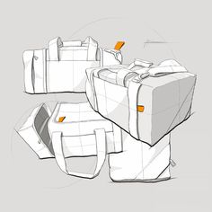 Some random bags. Sketching products made of fabric or cloth is sweet, you dont have to worry about straight lines;) have a great weekend! #design #designsketch #idsketch #ink #bags #conceptdesign #sketches #sketching #creative #art #sketchaday #instasketch  #render #drawing #copic #sketchbook #designprocess #industrialdesign #sketch #designs #doodle #graphicdesign #illustration #instadesign #sketching #productdesign #airbrush #marker #minimalistic