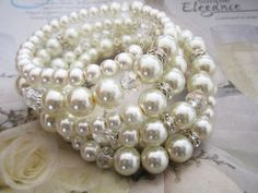 Hey, I found this really awesome Etsy listing at https://www.etsy.com/listing/164293415/pearl-wedding-bracelet-bridal-pearl