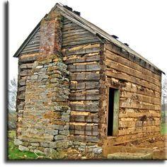 Antique Hand Hewn Oak Log Cabin. Log Cabin Living, Log Cabin Kits, Log Cabin Homes, Old Cabins, Cabins And Cottages, Cabins In The Woods, Oak Logs, Cabin Design, Cozy Cabin