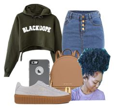"""""""Untitled #1157"""" by dxrtysxriteqxeen ❤ liked on Polyvore featuring MICHAEL Michael Kors, OtterBox and Puma"""