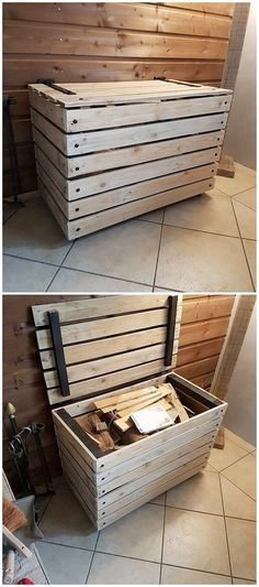 Wood pallet has always turn out to be one of the ultimate choices of the house makers as it comes about the storage box designing. This storage box is all carried out with the compact moderate size structuring that is complete put in the range of creative approaches.