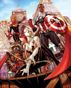 Happy Gwensday! Art by Mark Brooks #spidergwen #rocketraccoon #captainamerica #captainmarvel #marvel #marvelcomics #marveluniverse #art #awesome #bestoftheday #cartoons #comics #cool #igdaily #igers #instadaily #instago #instagood #instagramhub #instagramers #instamood #instasize #iphonesia #iphoneonly #photooftheday #picoftheday by comictoons