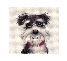 Miniature Schnauzer Dog Puppy Complete Counted Cross Stitch Kit