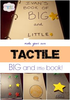 Really good tactile books can be hard to find, especially if you are looking for tactile books that teach a simple concept like shapes or sizes. So why not make your own? Here's how to make your own tactile Big & Little Book complete with print and braille labels!