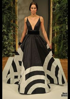 Yulia Yanina Black and white amazing gown