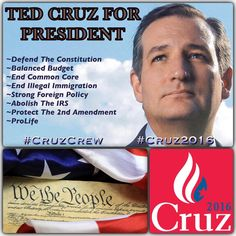 MT @DanMartin_cards: There's Only One RIGHT CHOICE! Vote TED CRUZ For President!!  #CruzCrew #PJNET