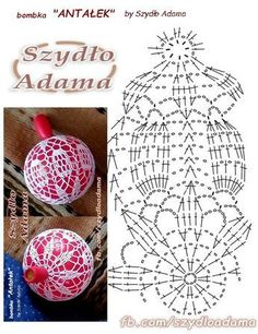 Witam:) To co wczoraj zobaczyłam na swojej tablicy na FB SZ - Salvabranicrochet patterns in thread - Salvabrani - SalvabraniHoliday decor crochet snowflake and wood ornament by WoodstormingBeautiful eggs with crochet - SalvabraniKnitting Patterns Ch Crochet Ball, Crochet Chart, Thread Crochet, Diy Crochet, Vintage Crochet, Crochet Doilies, Crochet Patterns, Knitting Patterns, Crochet Christmas Ornaments