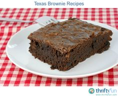 This page contains Texas brownie recipes. These brownies, also known as a Texas sheet cake, are a chocoholic's dream come true.