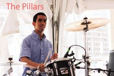 Juan Ale Saenza at the Boston GreenFest 2014 with The Pillars
