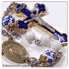 I truly felt blessed to make these rosaries for a lovely woman to give to her family.  BelladonnasShoppe.etsy.com