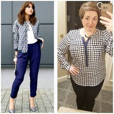 #ChubbyChique 4-22-2016 #ootd #beYOUtiful16 #pinneditspinnedit #sherrispinstyle Navy and white grid pattern inspiration from @lovelypepa