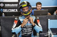 MotoGP rider Alex de Angelis has had his sedation reduced and is now able to talk as he recovers from a violent crash at last weekend's Motegi round. E Motion, Road Racing, Motogp