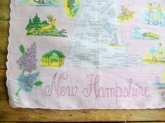 Road Trip vintage 1950s NEW HAMPSHIRE  by varietyvtgclothing, $26.00