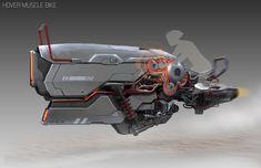 Hover Muscle Bike by Bryant Koshu Spaceship Design, Spaceship Concept, Concept Ships, Concept Cars, Hover Car, Hover Bike, Futuristic Motorcycle, Futuristic Art, Futuristic Vehicles