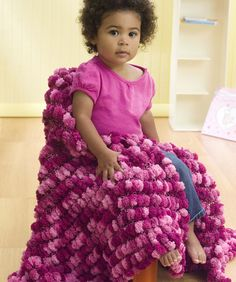 Free Knitting pattern for Pampered Baby Blanket. Uses 6 balls of Red Heart Pomp-A-Doodle yarn and knitting needles size US Free Knitting, Baby Knitting, Knitting Patterns, Blanket Patterns, Knitting Needles, Knitting Projects, Crochet Patterns, Cute Blankets, Knitted Baby Blankets