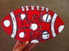 I hand painted this football for a wreath I'm making. #rolltide