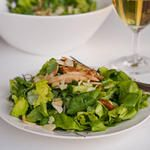 Salad with Chicken, Cucumber and Mustard Dressing