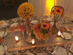 GB Ambassador's Gala Centerpieces created by Ambience Floral Design.
