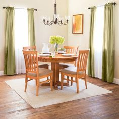 Enjoy Vermont-Style dining with our Single-Leg Round Pedestal Dining Table & Bistro Dining Chairs. Beautiful natural cherry wood furniture made right here in Vermont.