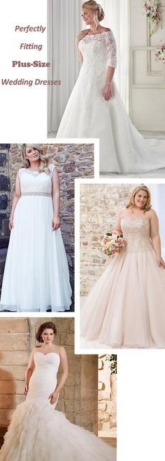 Perfectly fitting plus-size wedding dresses. Available from size  0-30. Nothing is more beautiful than a bride feeling confident and radiant.