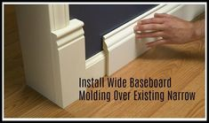 It always amazes why one post is pinned thousands of times and others are rarely pinned. I have two posts that are continually pinned day after day. This one is pinned approximately 3500 times a month for years. It is still one of my most popular posts of all time. INSTALL WIDE BASEBOARD MOLDING OVER EXISTING NARROW. Updated and Revised Post With New Product Listing: With so many room makeovers going on, I see that it is being pinned more often than usual, so time to share my complete… Baseboard Molding, Wall Molding, Baseboards, Orac Decor, Large Glass Jars, Paper Towel Rolls, Tablet Stand, Diy Planters, Diy Projects