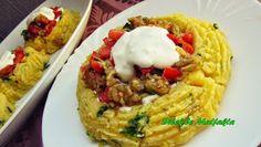 Dilek'le Mutfakta: Patates Çanağında Közlenmiş Patlıcan Salatası Mashed Potatoes, Grains, Ethnic Recipes, Food, Whipped Potatoes, Smash Potatoes, Meals, Yemek, Shredded Potatoes
