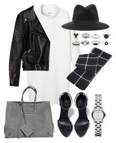 """Sans titre #2588"" by christina95styles ❤ liked on Polyvore featuring Monki, Zara, Balenciaga and Marc by Marc Jacobs"