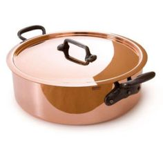 Mauviel Copper Saute Casserole - 28cm M'Heritage with Cast Iron Handles