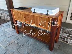 Deck Cooler, Cooler Stand, Cooler Cart, Yeti Tundra 45, Deck Cost, Big Deck, Family Dining Rooms, Interior Trim, Building A Deck