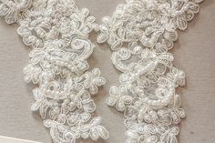 Ivory Bridal Lace applique Appset 11 by MillinerySupply on Etsy Bridal Lace, Lace Applique, Christmas Shopping, White Christmas, Pearl White, Light Colors, Marie, Ivory, Embroidery