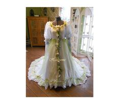 Vintage whimsical wedding dress gown fairy  by HeartsomeHalos, $465.00