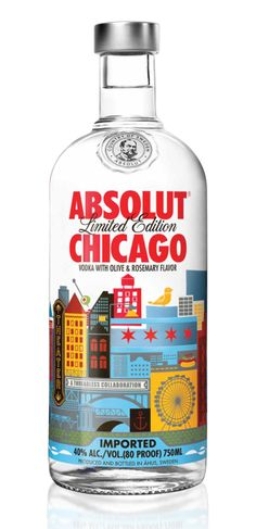 absolut vodka / chicago / limited edition