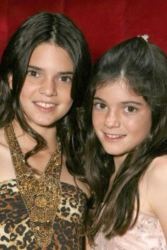 Kendall & Kylie Jenner in 2007. See how the youngest Jenner has transformed throughout the years.  #promagain #consignment #resale #formal #dresses