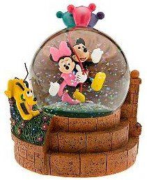 Disney Mickey & Minnie & Pluto walking with balloons