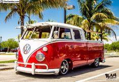 Red VW Truck Volkswagen Bus