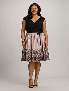 Plus Size Textured Fit-and-Flare Dress | Dressbarn Love the cut ...
